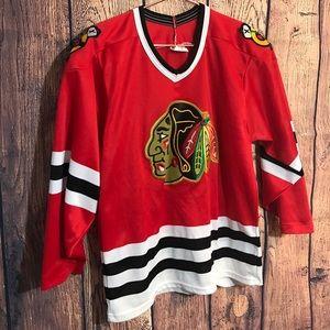 Retro Hockey Jersey Blackhawks Mens S Red Black